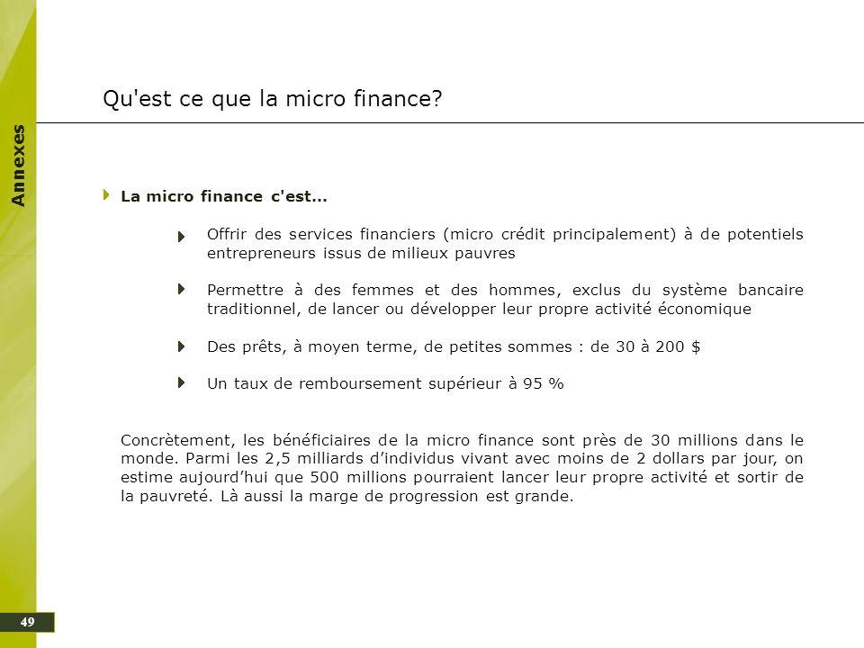 Qu est ce que la micro finance