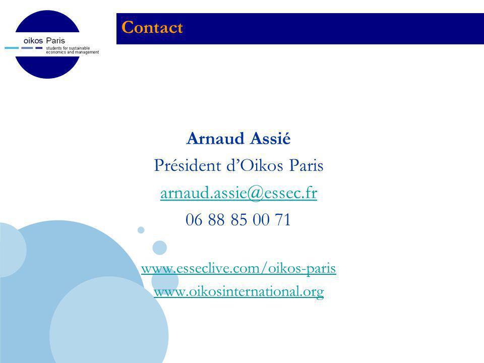 Président d'Oikos Paris