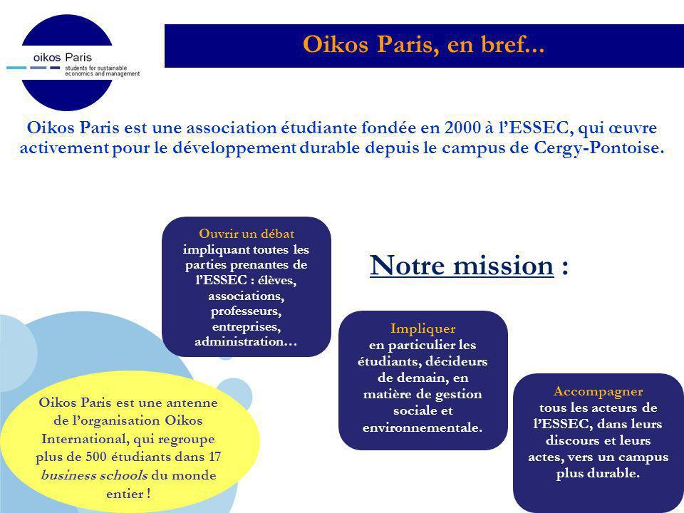 Notre mission : Oikos Paris, en bref...