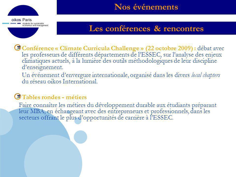 Les conférences & rencontres