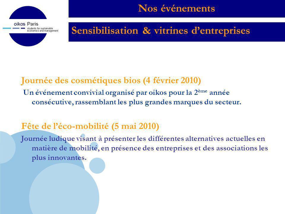 Sensibilisation & vitrines d'entreprises