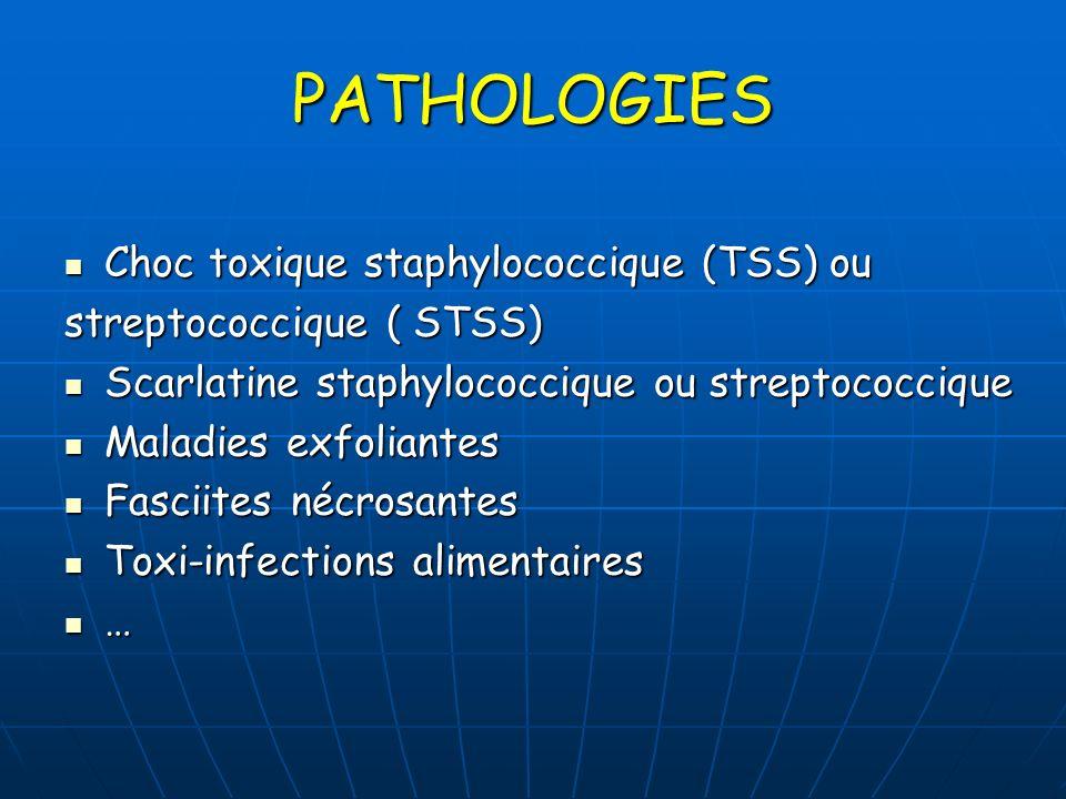 PATHOLOGIES Choc toxique staphylococcique (TSS) ou