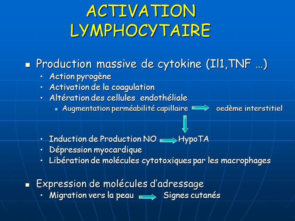 ACTIVATION LYMPHOCYTAIRE