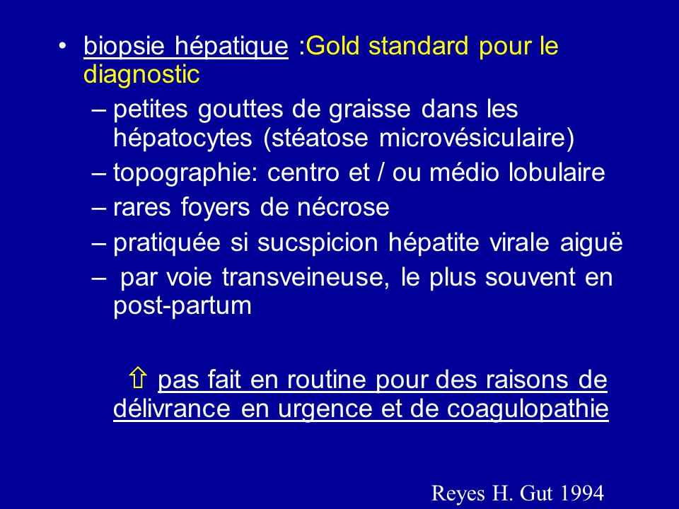 biopsie hépatique :Gold standard pour le diagnostic