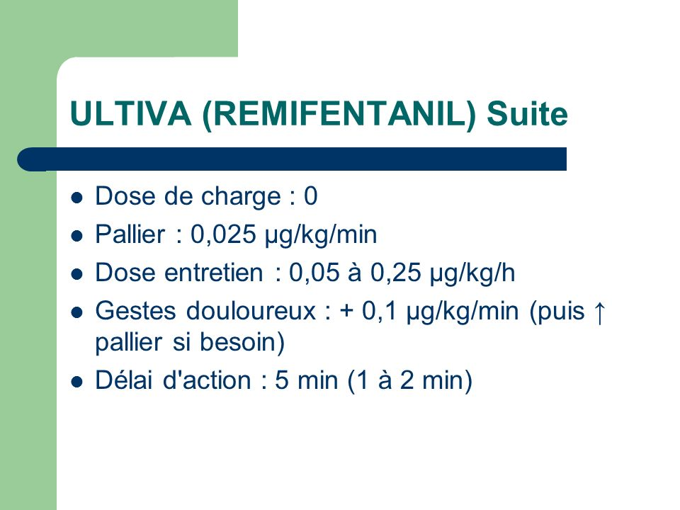 ULTIVA (REMIFENTANIL) Suite