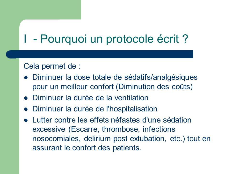 I - Pourquoi un protocole écrit
