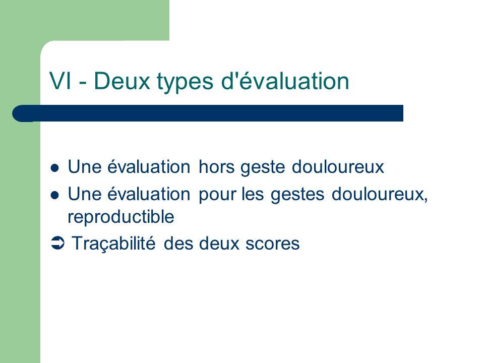 VI - Deux types d évaluation