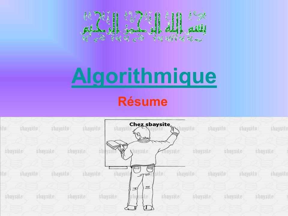 Algorithmique Résume