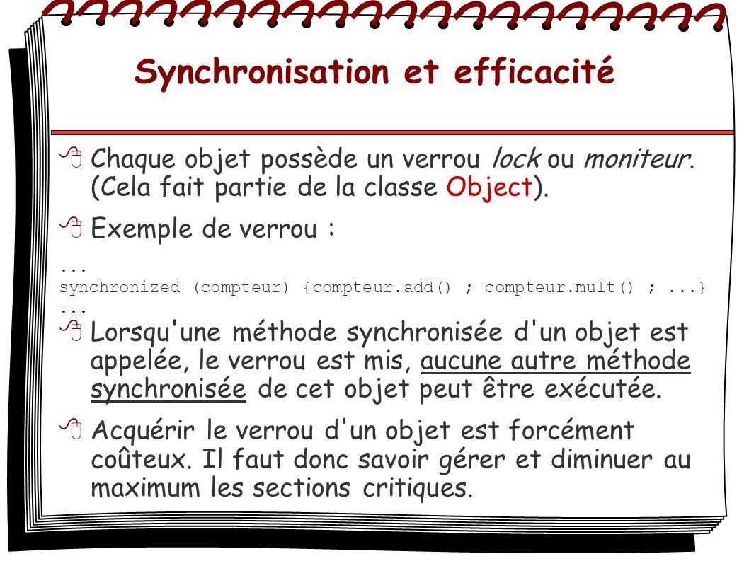 Synchronisation et efficacité