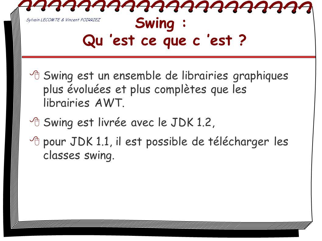 Swing : Qu 'est ce que c 'est