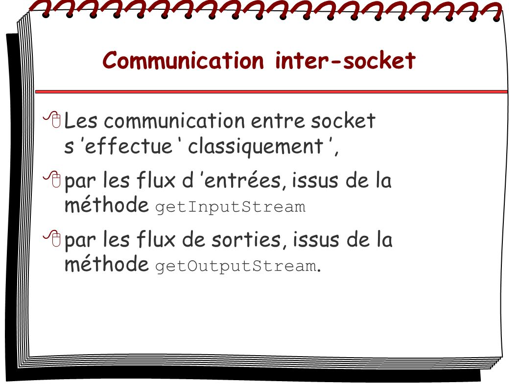 Communication inter-socket