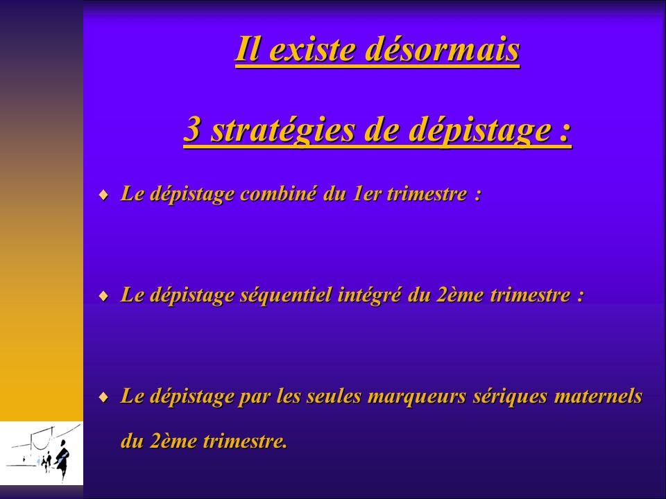 3 stratégies de dépistage :