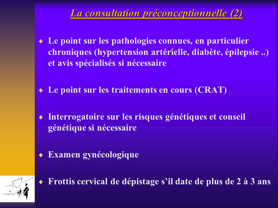 La consultation préconceptionnelle (2)