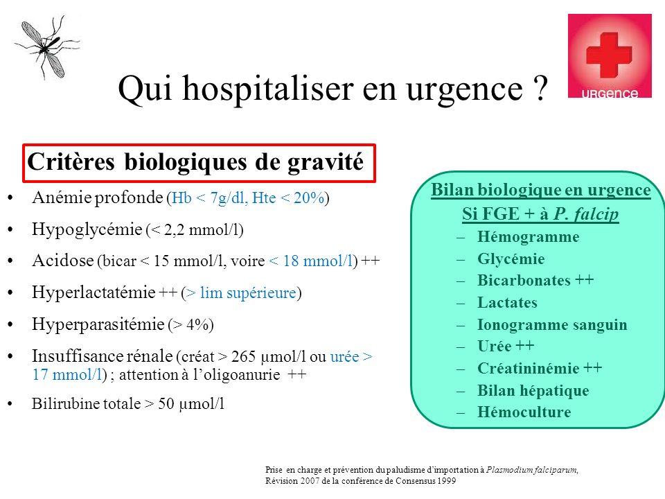 Qui hospitaliser en urgence