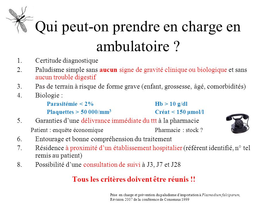 Qui peut-on prendre en charge en ambulatoire