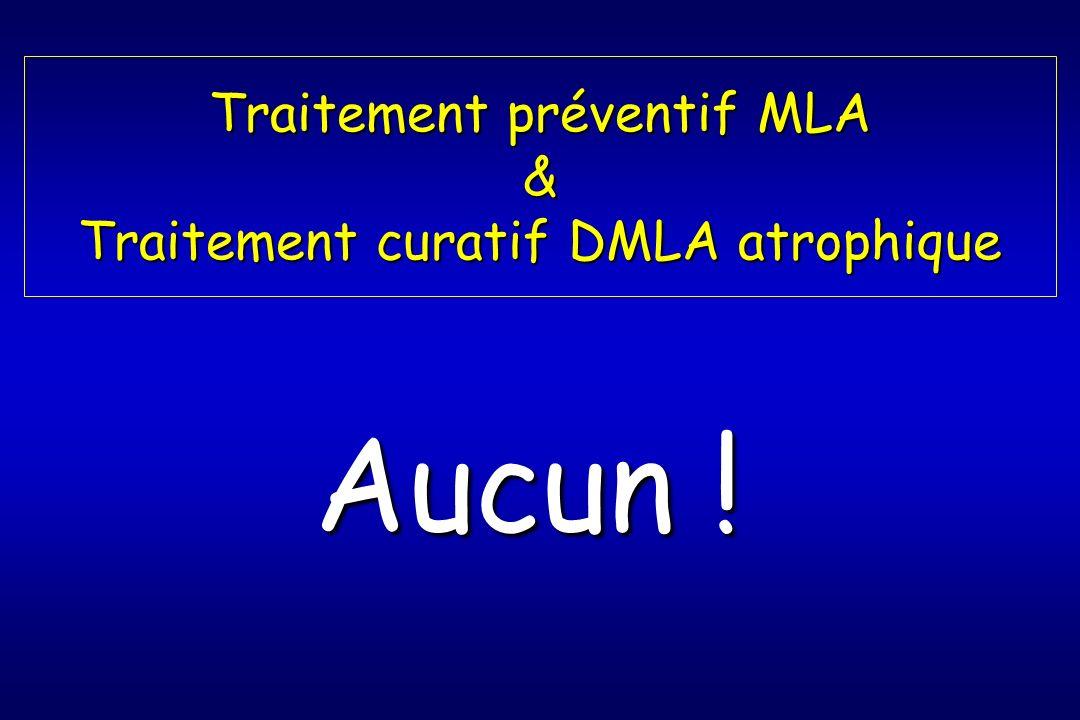 Traitement préventif MLA & Traitement curatif DMLA atrophique
