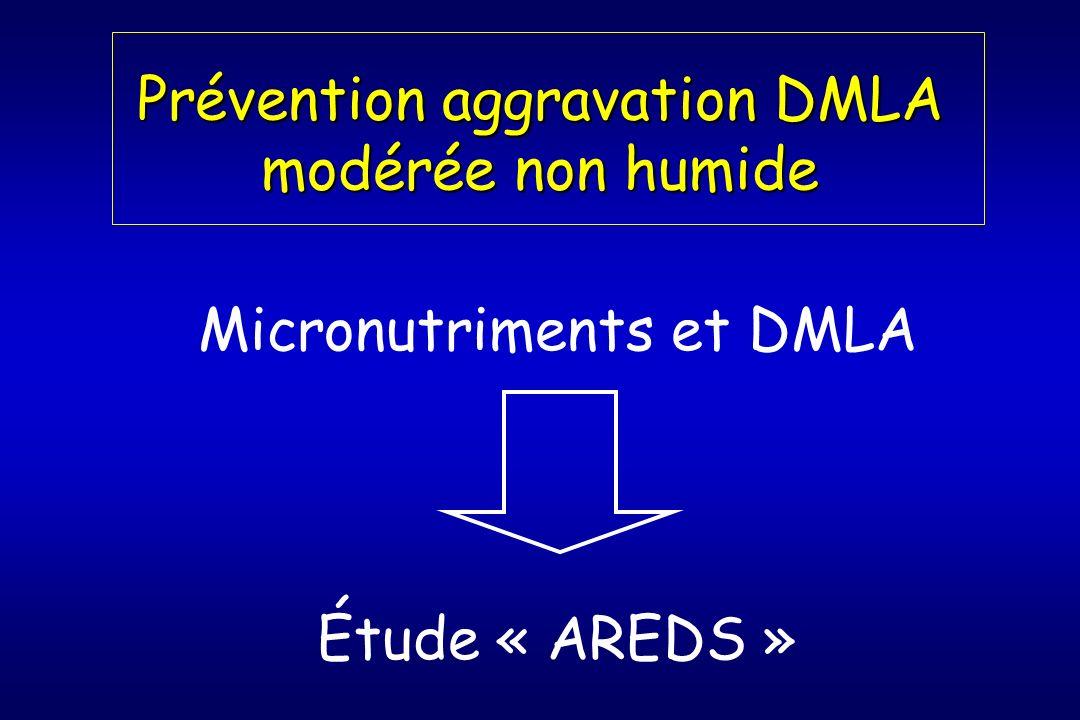 Prévention aggravation DMLA modérée non humide