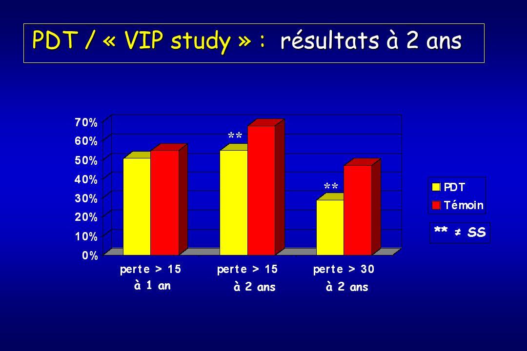PDT / « VIP study » : résultats à 2 ans