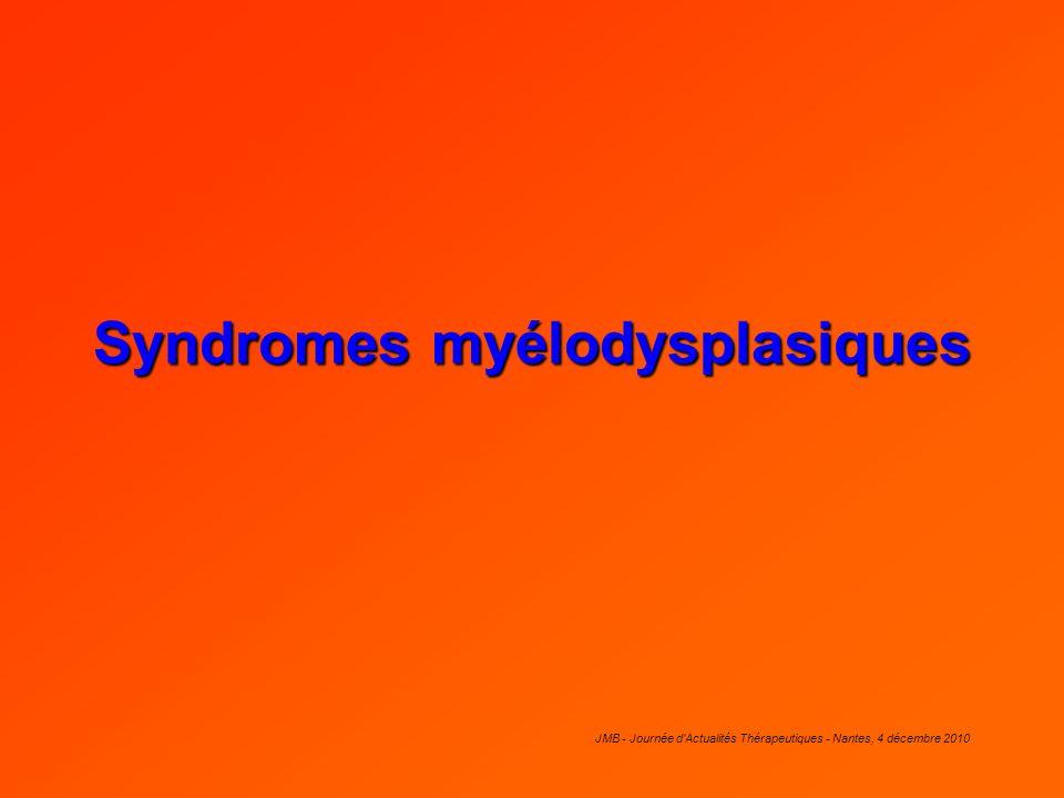Syndromes myélodysplasiques