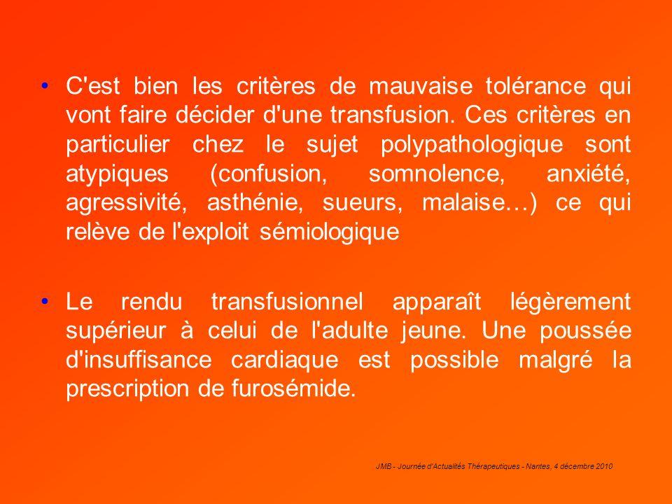 JMB - Journée d Actualités Thérapeutiques - Nantes, 4 décembre 2010