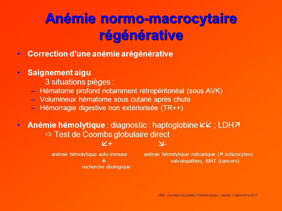 Anémie normo-macrocytaire régénérative