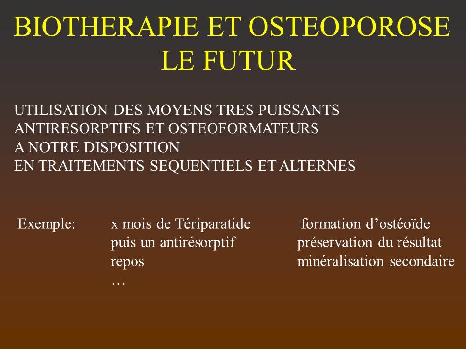 BIOTHERAPIE ET OSTEOPOROSE LE FUTUR