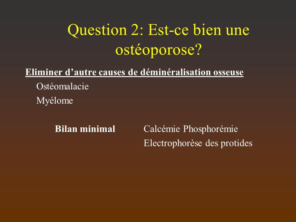 Question 2: Est-ce bien une ostéoporose