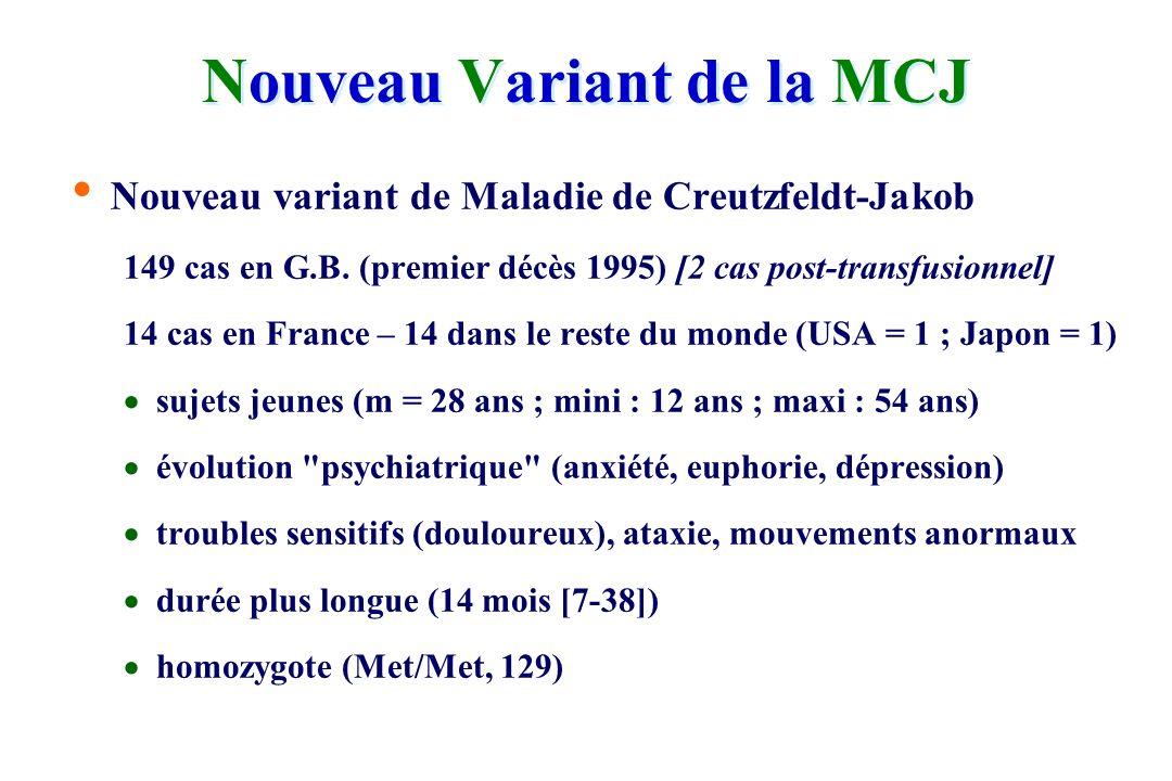Nouveau Variant de la MCJ