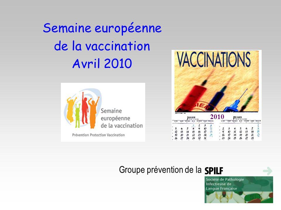 Semaine européenne de la vaccination Avril 2010