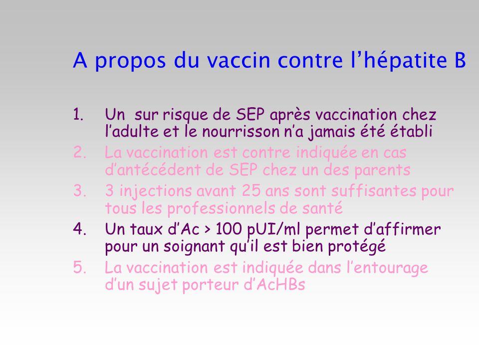 A propos du vaccin contre l'hépatite B