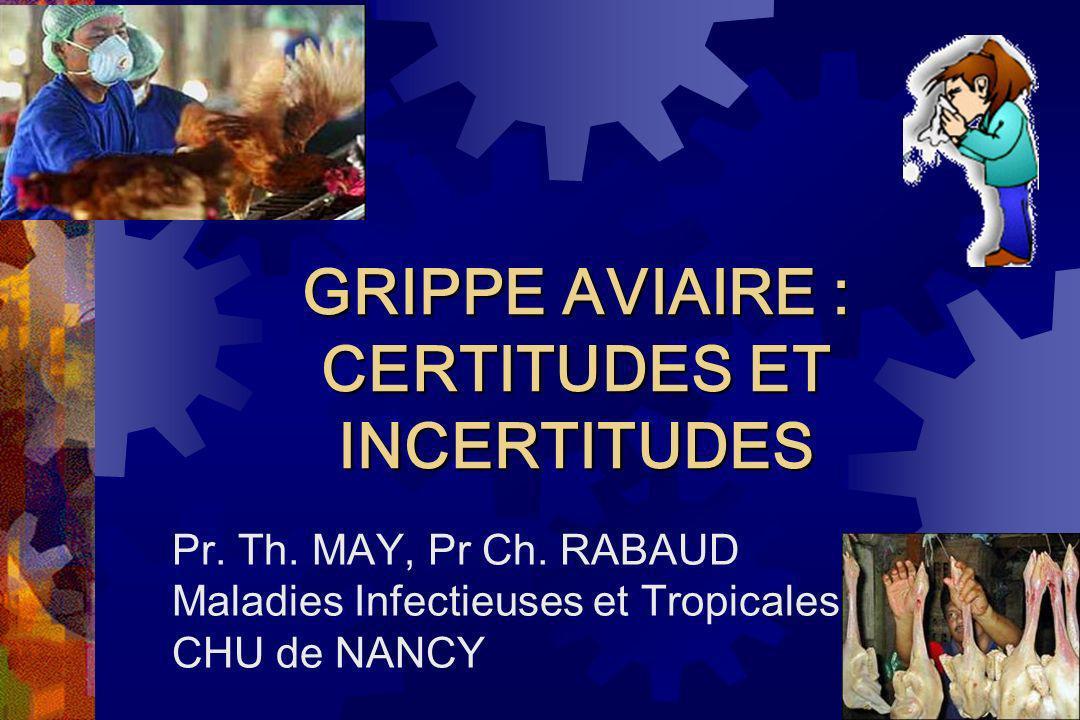 GRIPPE AVIAIRE : CERTITUDES ET INCERTITUDES
