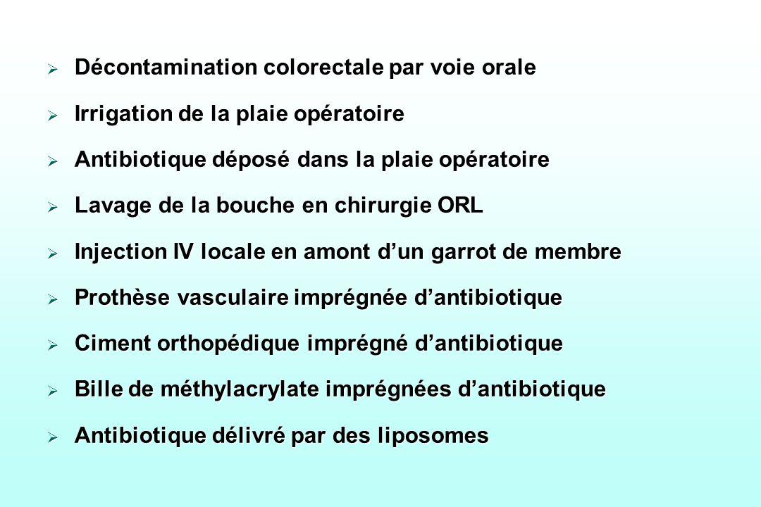 Décontamination colorectale par voie orale