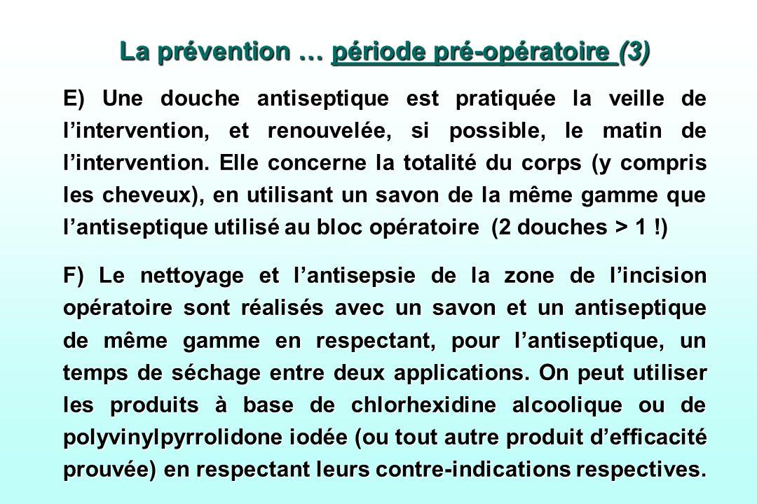 La prévention … période pré-opératoire (3)