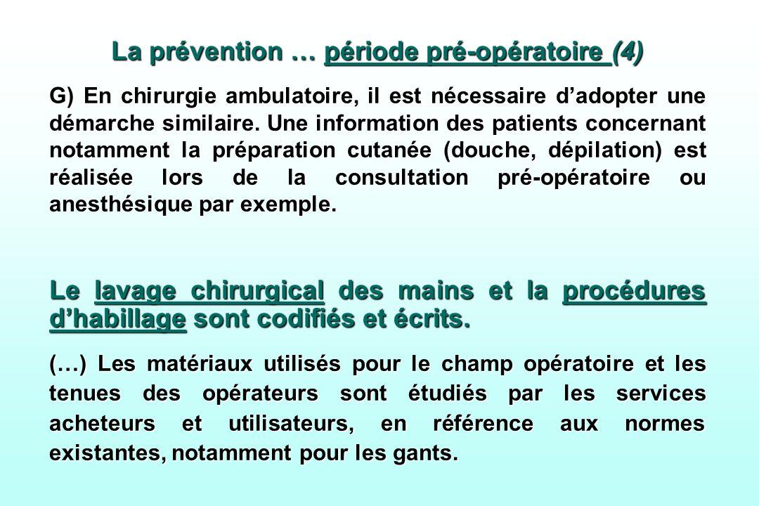 La prévention … période pré-opératoire (4)