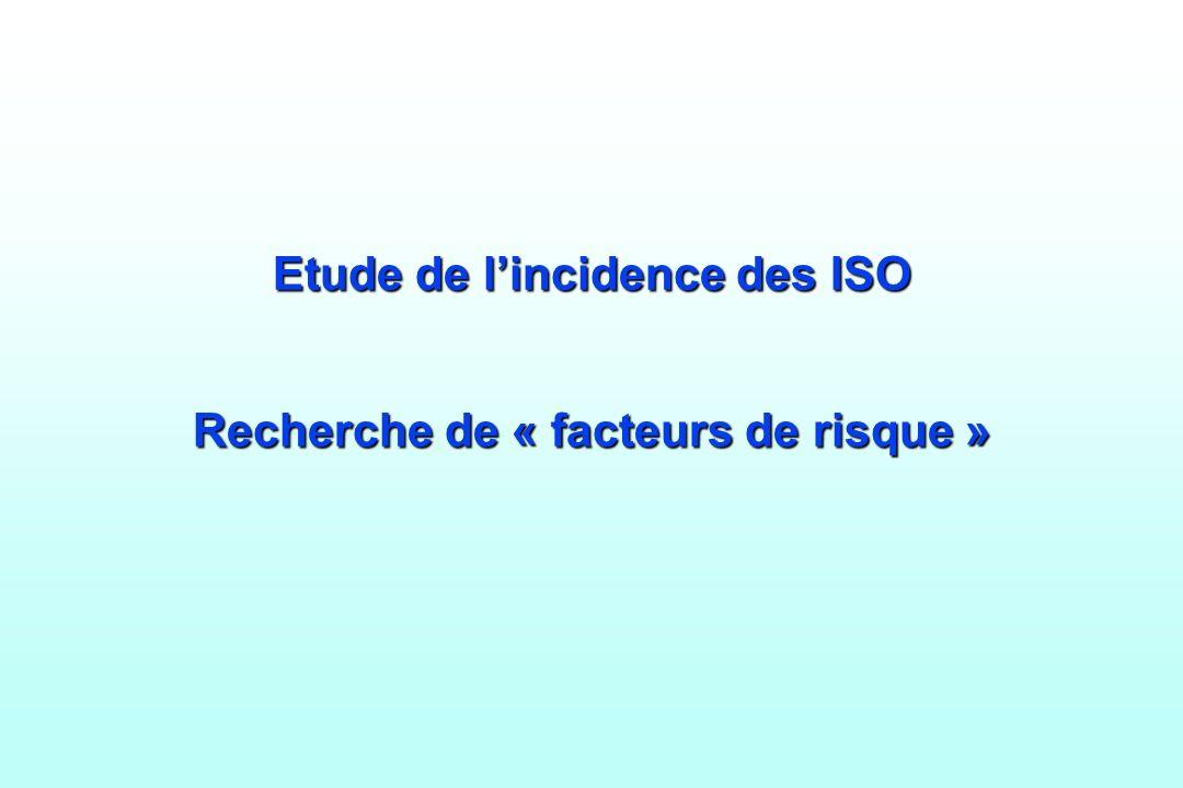 Etude de l'incidence des ISO Recherche de « facteurs de risque »