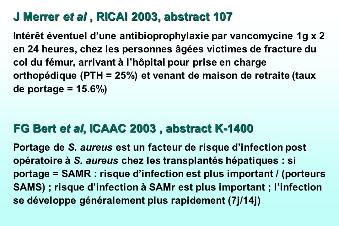 J Merrer et al , RICAI 2003, abstract 107