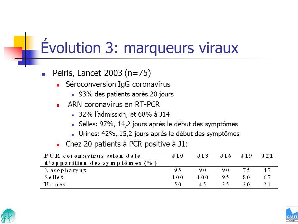 Évolution 3: marqueurs viraux