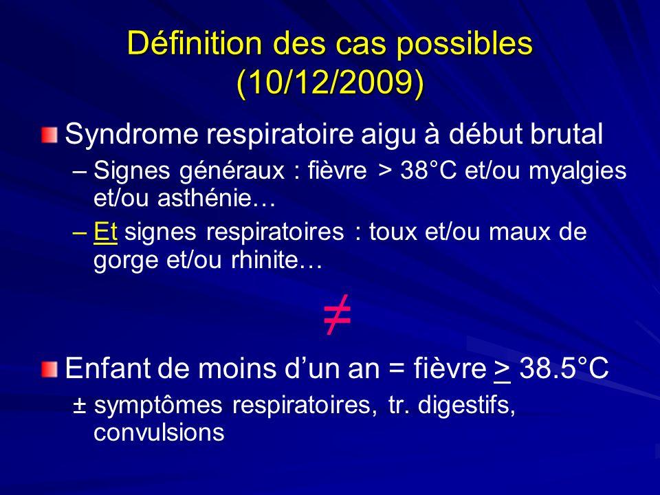Définition des cas possibles (10/12/2009)