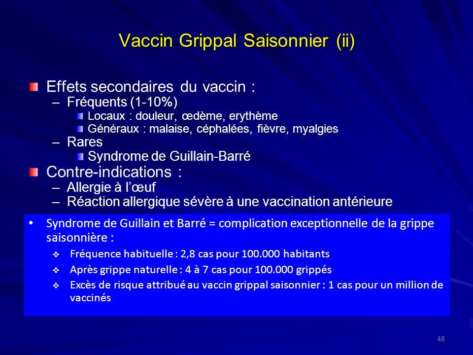 Vaccin Grippal Saisonnier (ii)