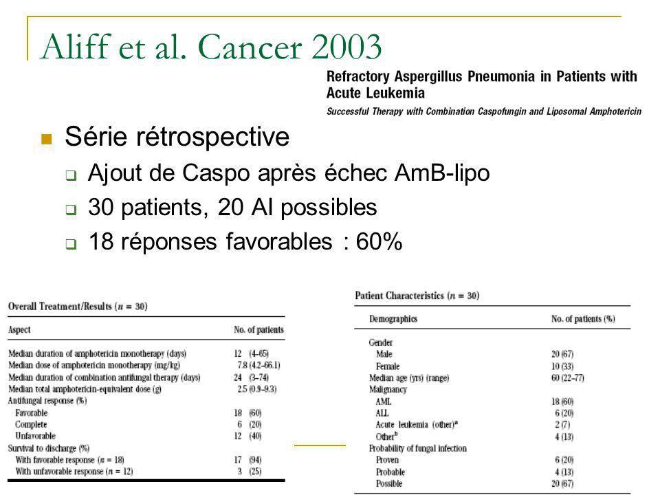 Aliff et al. Cancer 2003 Série rétrospective