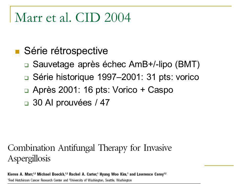 Marr et al. CID 2004 Série rétrospective