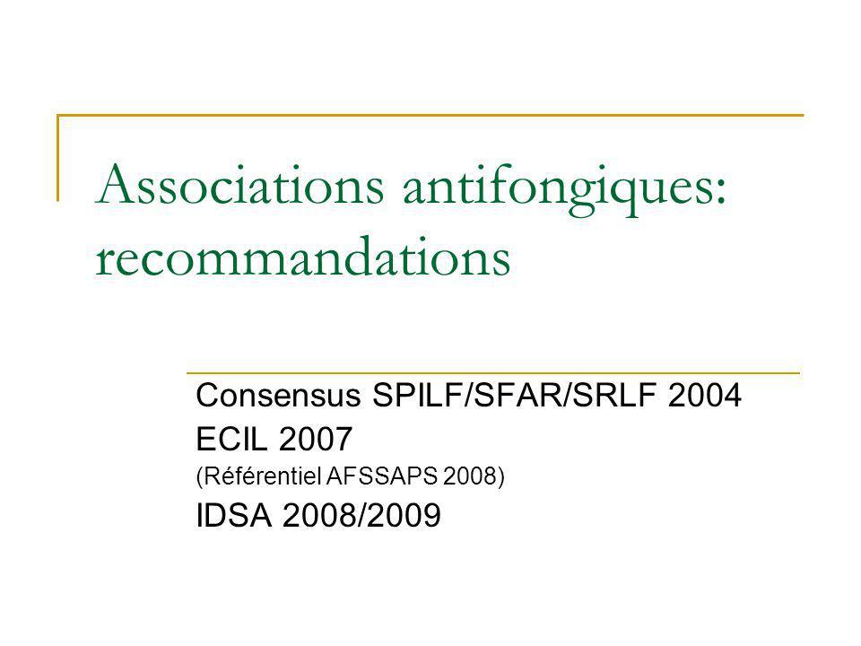 Associations antifongiques: recommandations