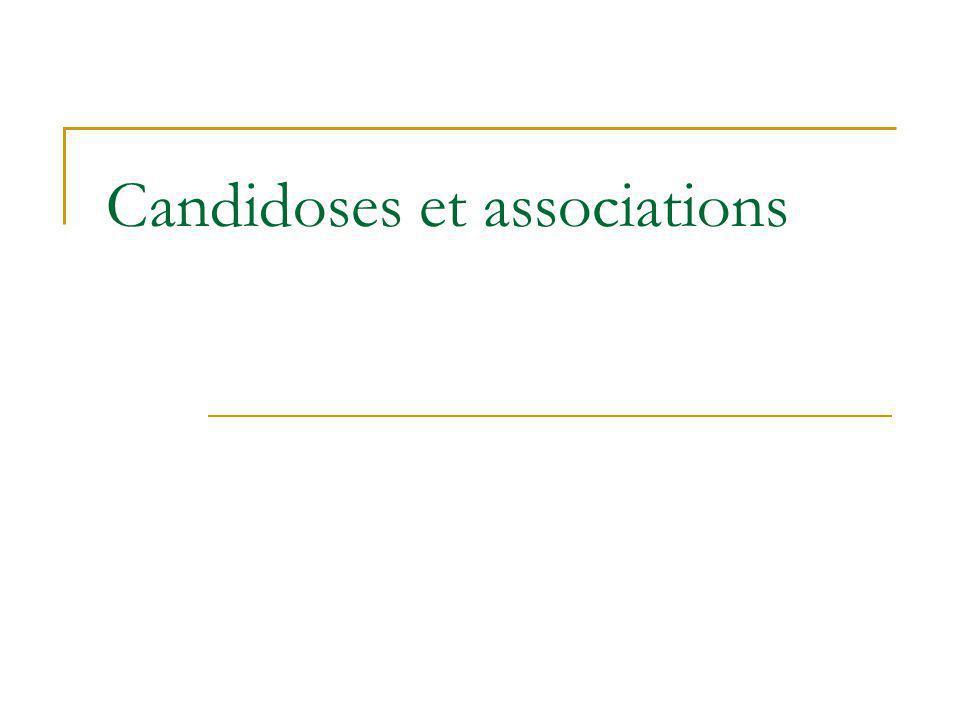 Candidoses et associations