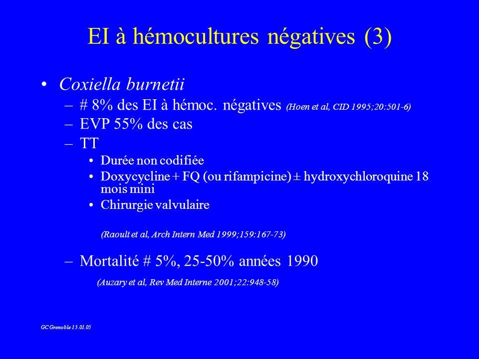 EI à hémocultures négatives (3)