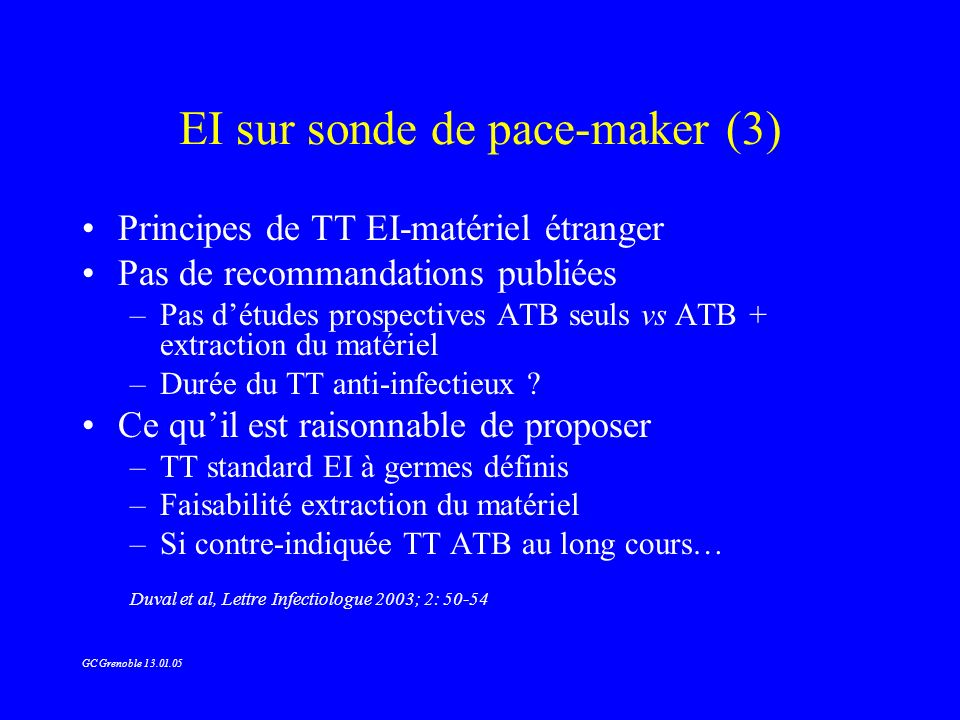 EI sur sonde de pace-maker (3)