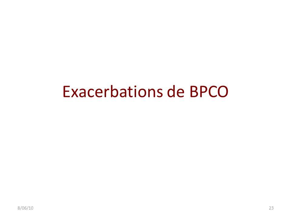 Exacerbations de BPCO 8/06/10