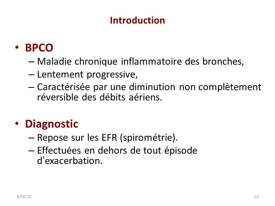 BPCO Diagnostic Introduction