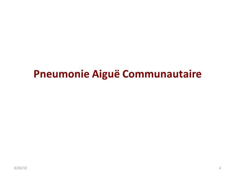 Pneumonie Aiguë Communautaire