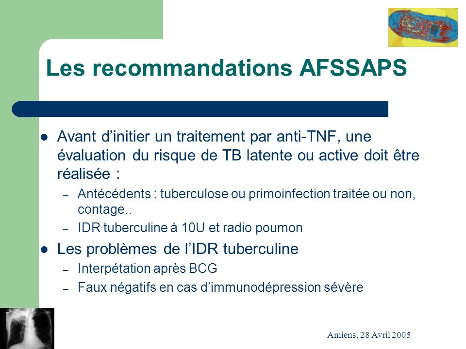 Les recommandations AFSSAPS
