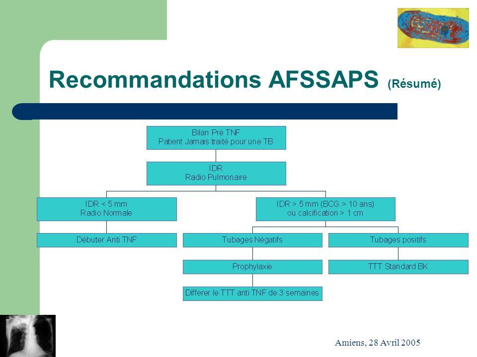 Recommandations AFSSAPS (Résumé)